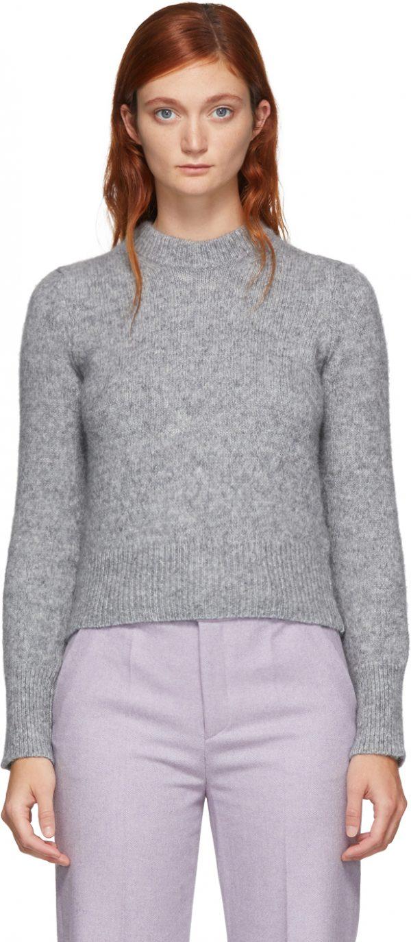 AMI Alexandre Mattiussi Grey Alpaca Pullover Sweater