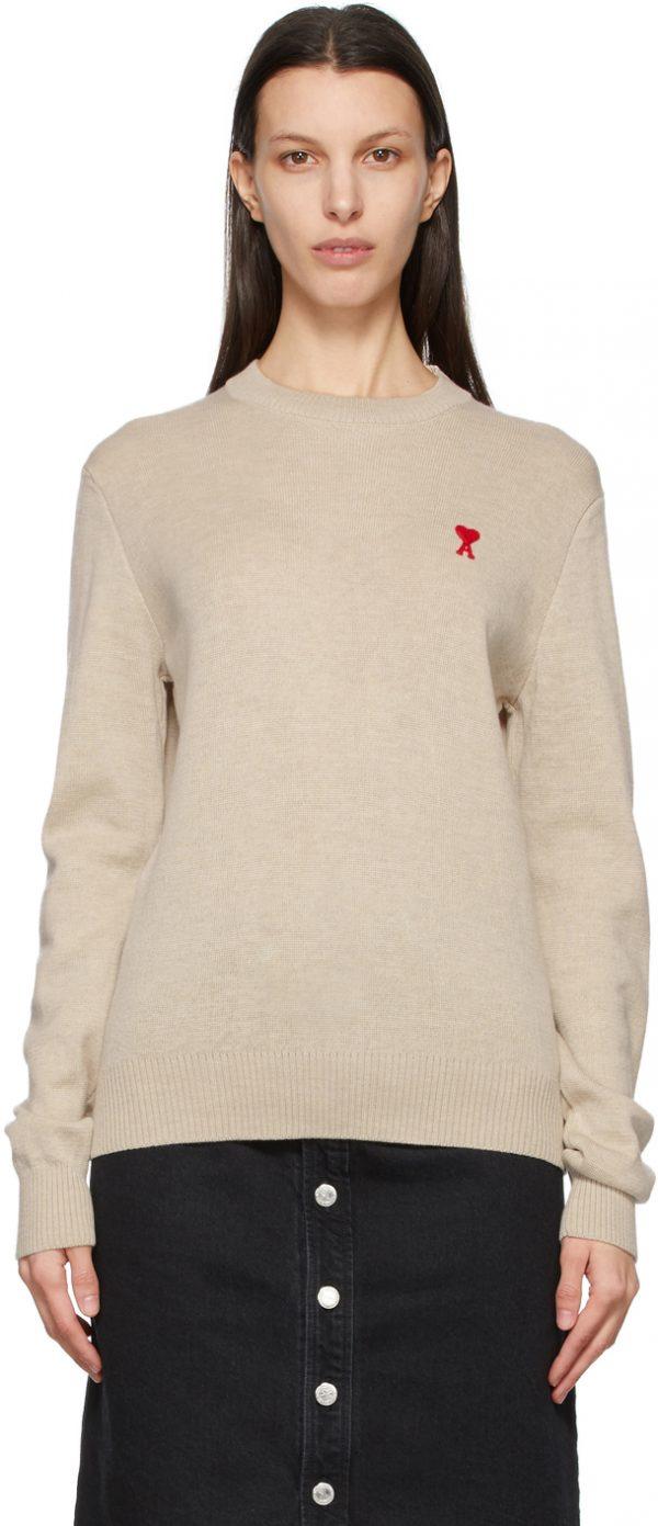 AMI Alexandre Mattiussi Off-White Ami De Coeur Sweater