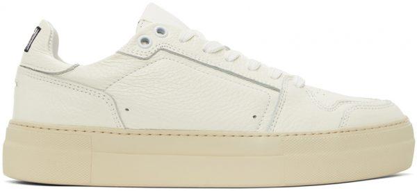 AMI Alexandre Mattiussi Off-White Platform Classic Low-Top Sneakers