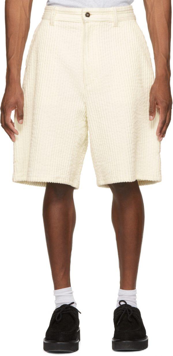 AMI Alexandre Mattiussi Off-White Worker Shorts