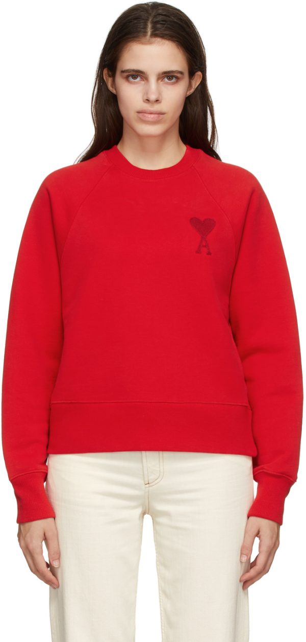 AMI Alexandre Mattiussi Red Ami De Coeur Sweatshirt