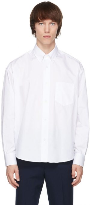 AMI Alexandre Mattiussi White Ami De Coeur Boxy Shirt