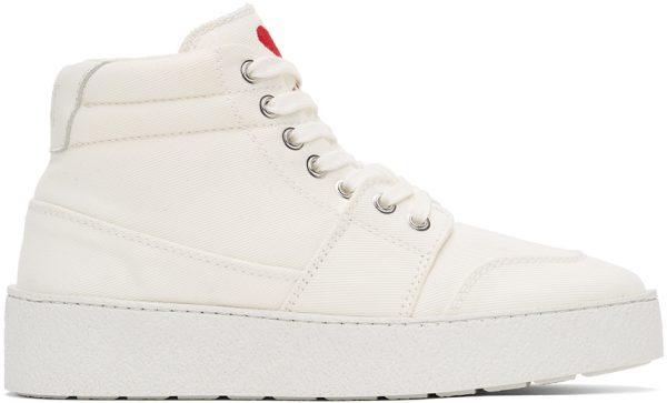 AMI Alexandre Mattiussi White Ami De Coeur High Sneakers