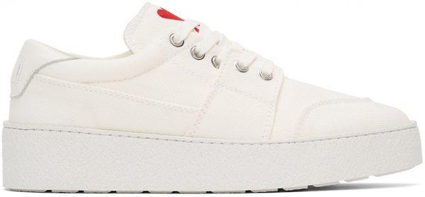 AMI Alexandre Mattiussi White Ami De Coeur Low Sneakers