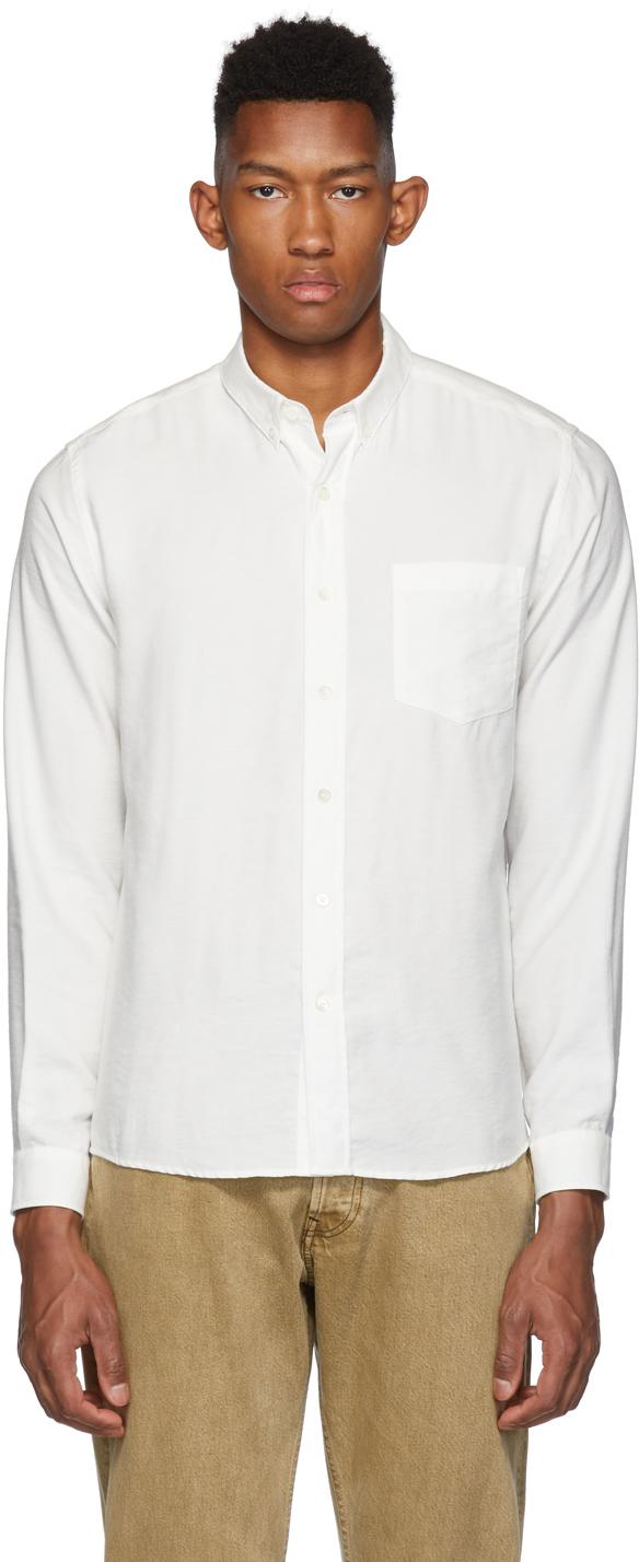 AMI Alexandre Mattiussi White Button-Down Shirt