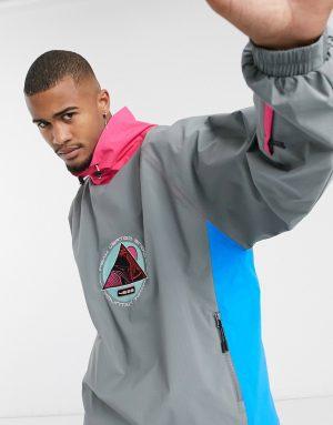 ASOS 4505 ski oversized ski jacket with color block-Multi