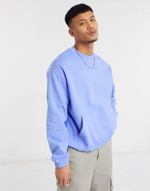 ASOS DESIGN oversized sweatshirt in blue-Blues