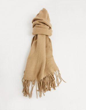 ASOS DESIGN super soft scarf in camel-Brown
