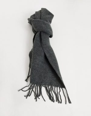 ASOS DESIGN supersoft scarf in charcoal-Grey