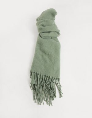 ASOS DESIGN supersoft scarf in green