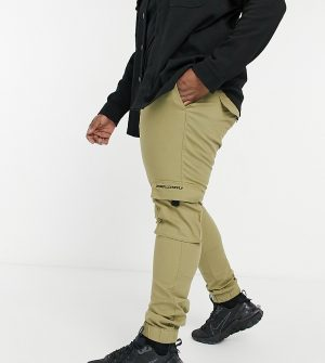 ASOS Unrvlld Spply Plus tapered cargo pants in stone-Neutral