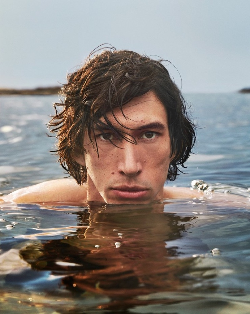 Adam Driver fronts the new fragrance campaign for Burberry Hero.