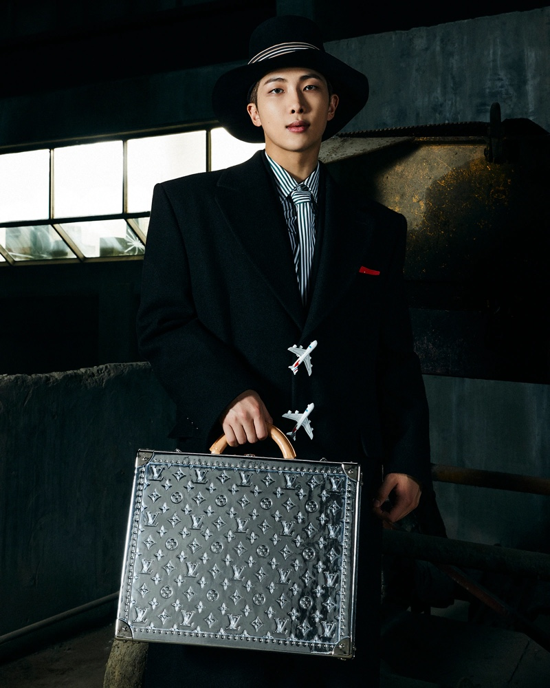 RM clean up in a sharp fall look from Louis Vuitton.