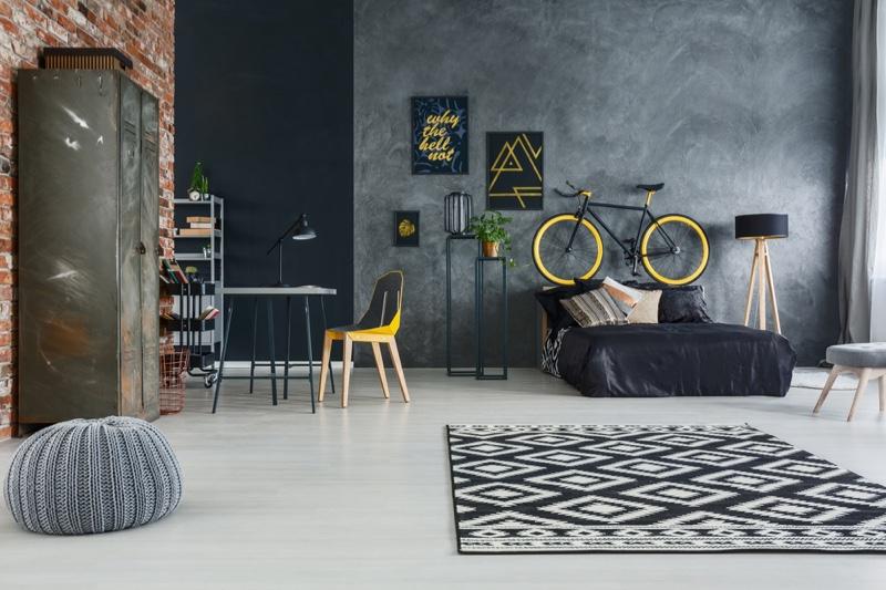 Bachelor Pad Home Decor Rug Bed Room