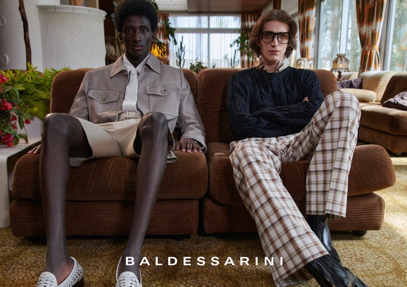 Andreas Ortner photographs Amadou and Xavier Buestel for Baldessarini's spring-summer 2022 campaign.