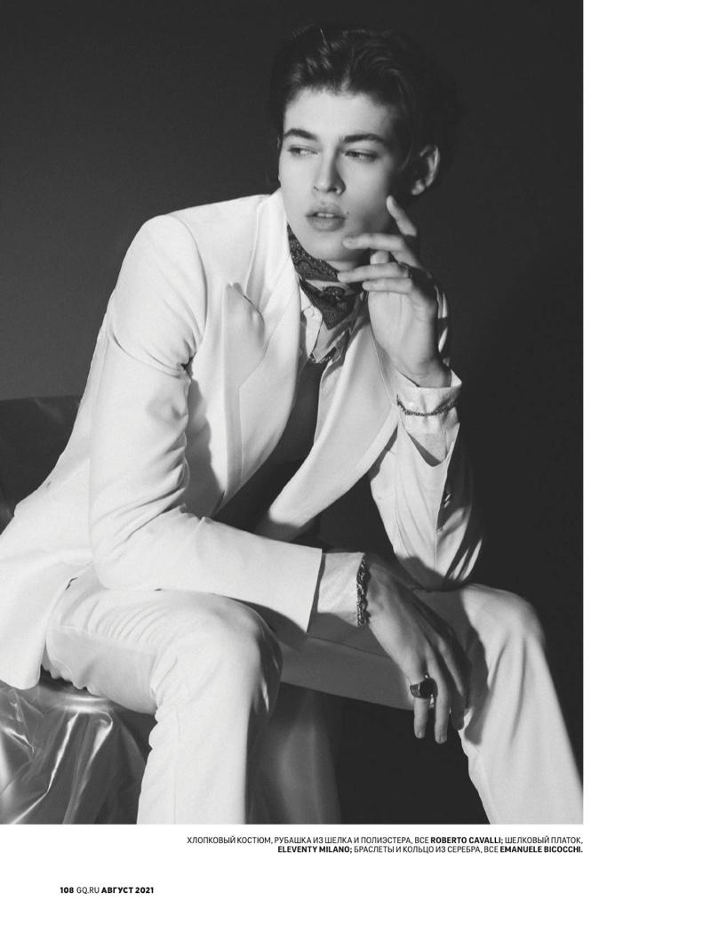 Bastien De Bels Stars in 'Brilliant Nocturne' for GQ Russia