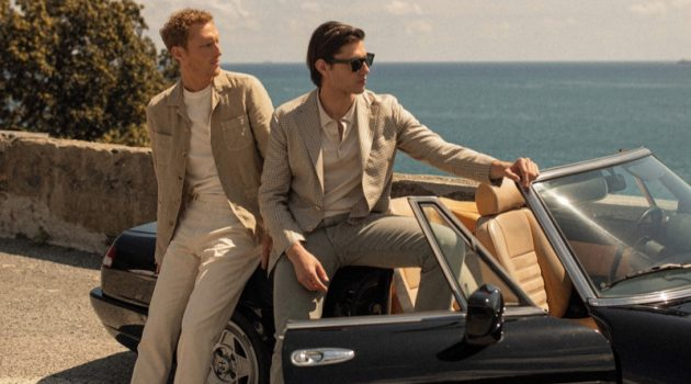 Boglioli enlists models Gordon Bothe and Marco Castelli as the stars of its summer 2021 campaign.