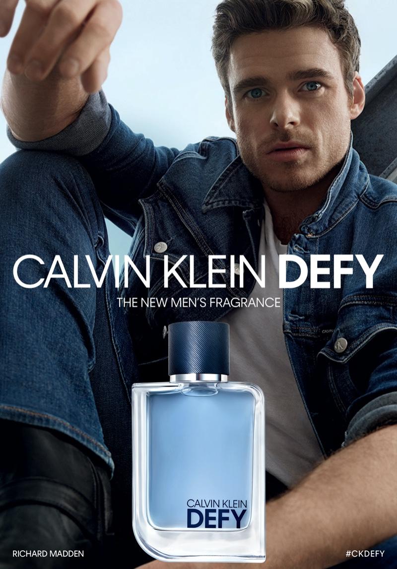 Richard Madden stars in the new Calvin Klein Defy fragrance campaign.