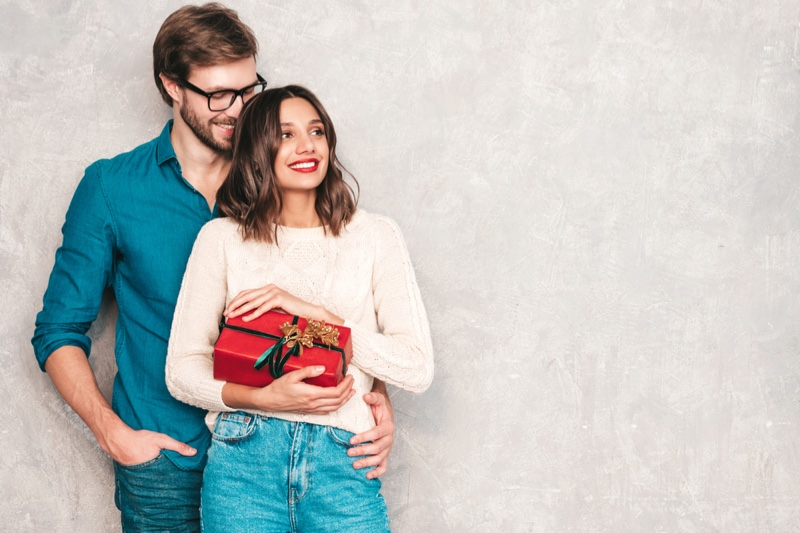 Couple Gift Happy Red Box Casual Outfits