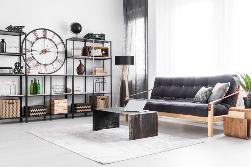 Decor Living Room Male Living Grey Minimal