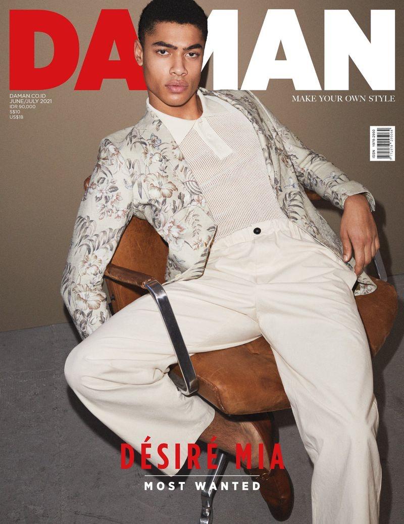 Désiré Mia Mesmerizes in Neutrals for Da Man Cover Shoot