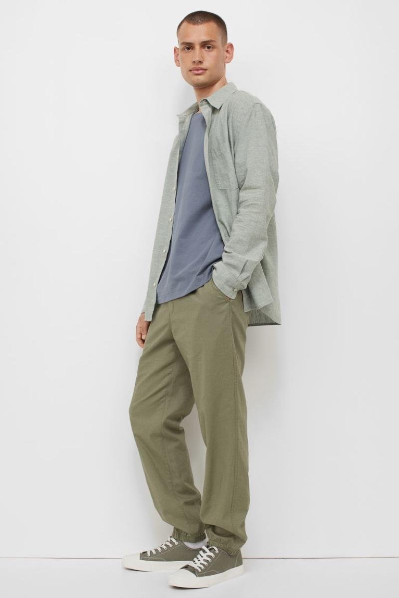 H&M Drawstring Linen-Blend Joggers | Photo Credit: H&M