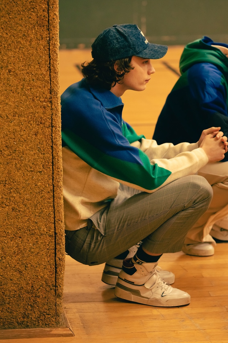 Bruno Staub photographs Freek Iven in a fall-winter 2021 look from Isabel Marant.