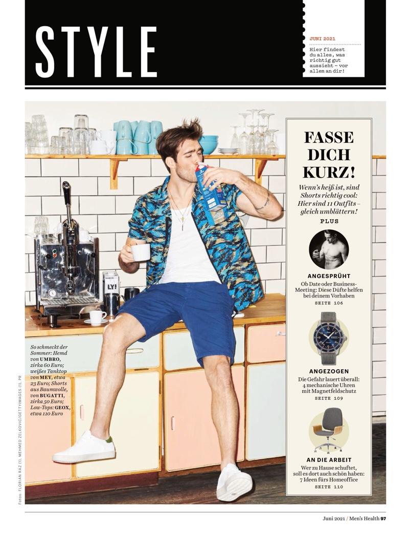 Janis Danner Rocks Casual Summer Style for Men's Health Germany