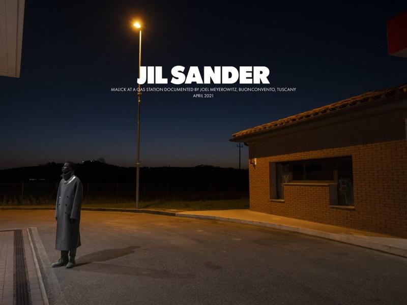 Joel Meyerowitz photographs Malick Bodian for Jil Sander's fall-winter 2021 men's campaign.