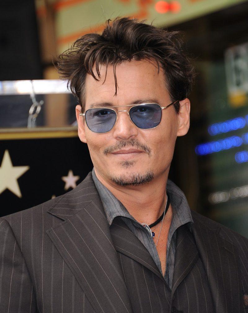 Johnny Depp Messy Undercut