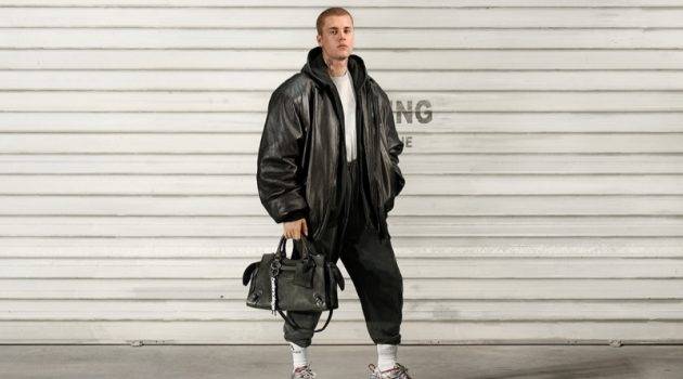 Justin Bieber fronts a new advertising campaign for fashion house Balenciaga.