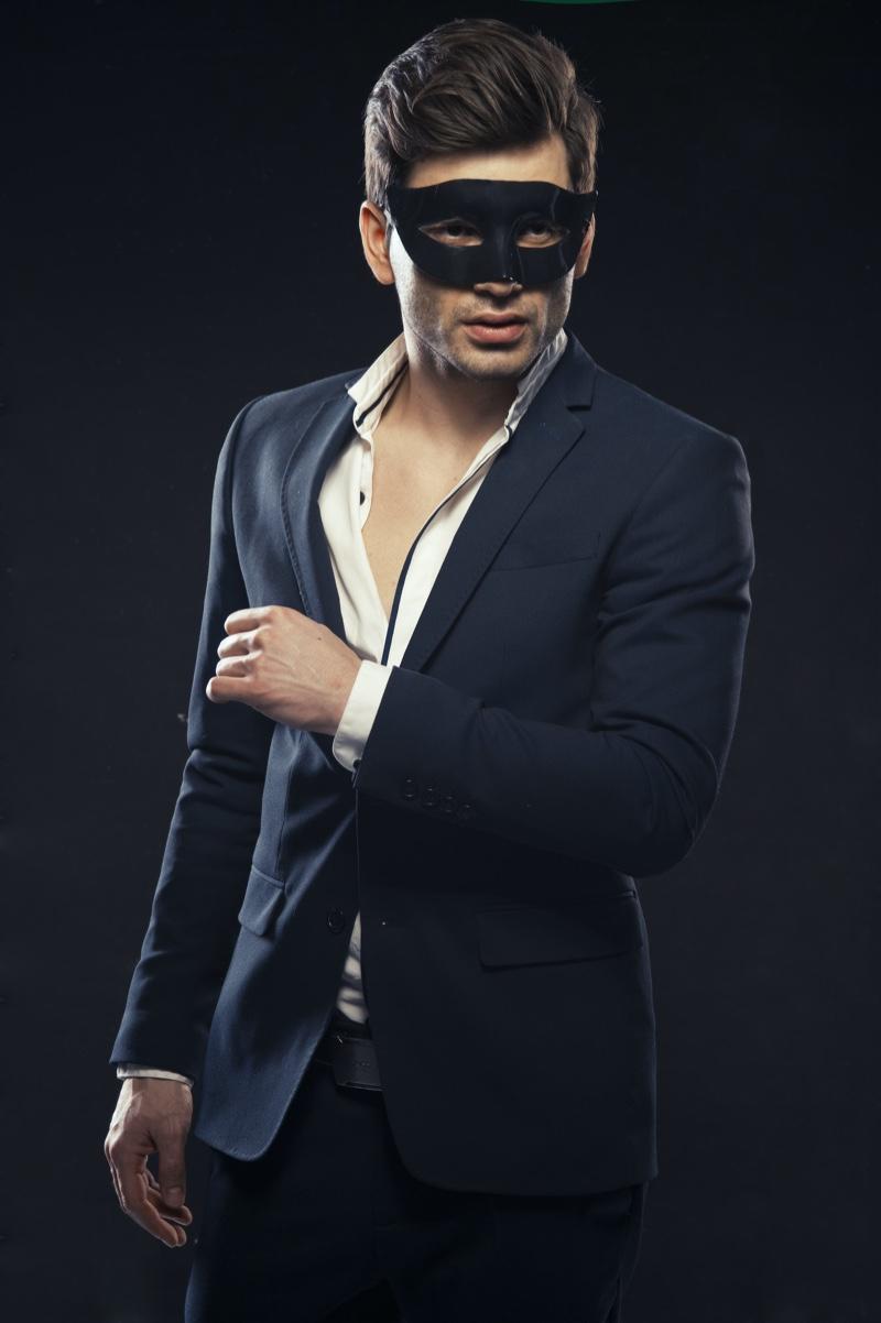 Male Model Mask Suit