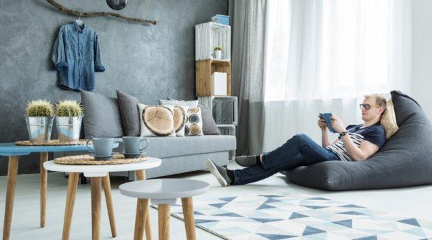 Man Stylish Home Decor Living Room