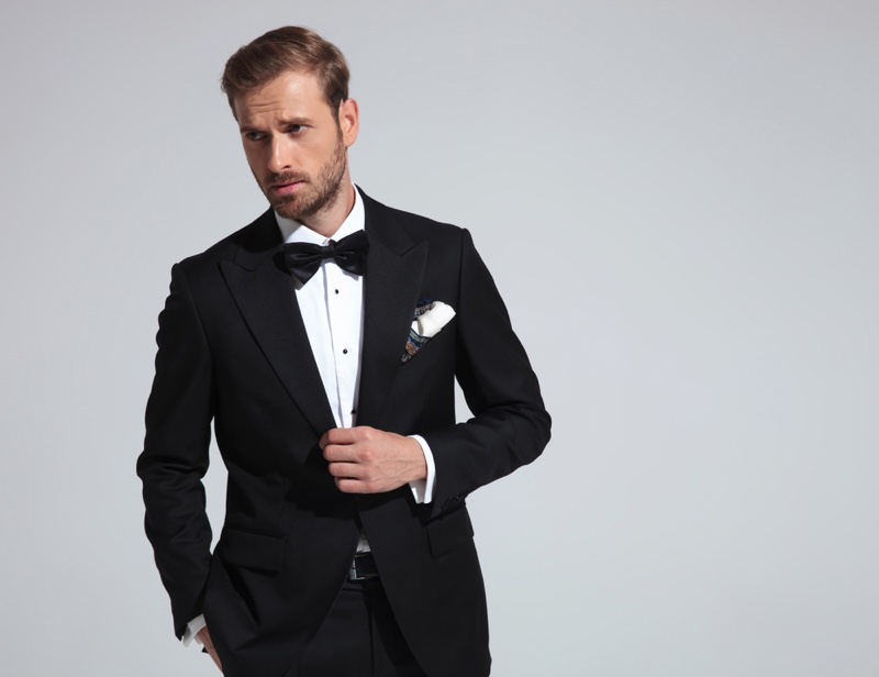 Man Tuxedo Bow Tie Formal