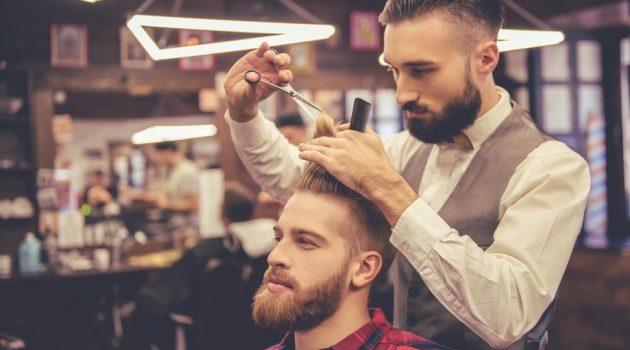 Man at Barbershop Hairstyle