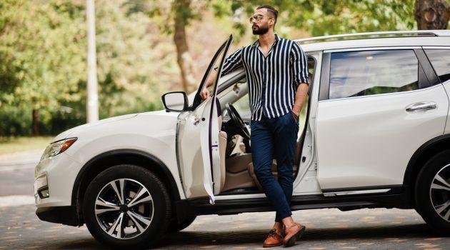 Man with SUV