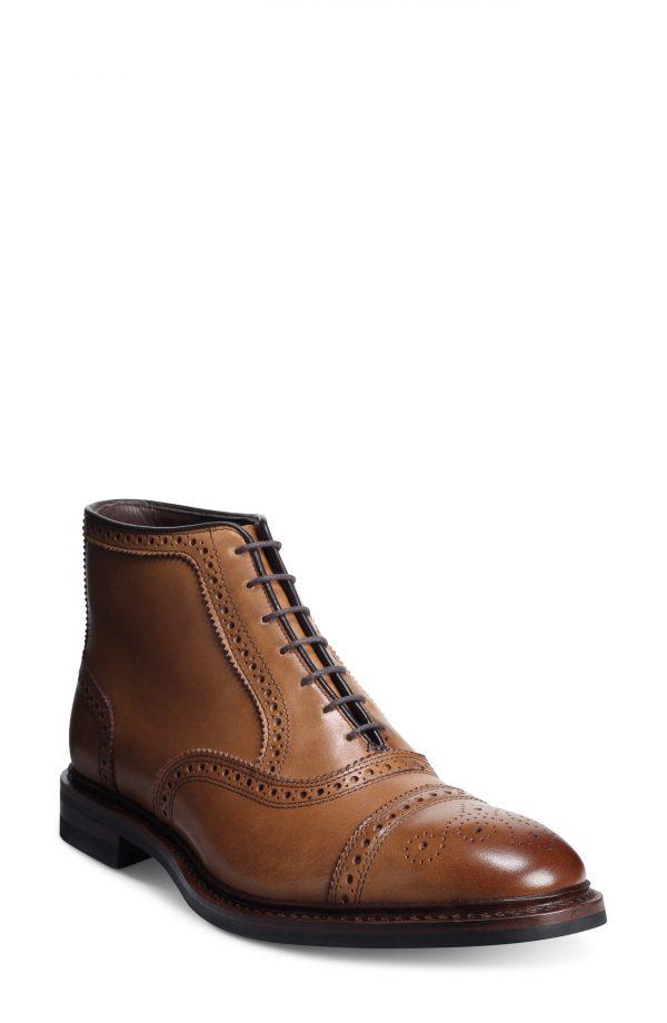 Men's Allen Edmonds Hamilton Wingtip Chukka Boot, Size 9 D - Brown