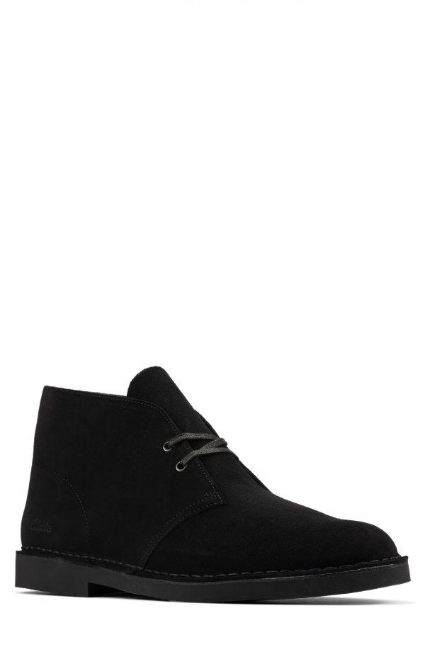 Men's Clarks Desert 2 Chukka Boot, Size 9 W - Black