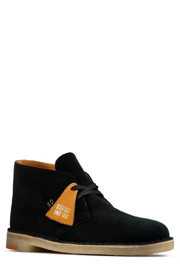 Men's Clarks Desert Chukka Boot, Size 7 M - Black