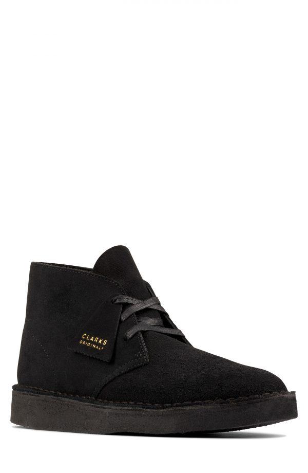 Men's Clarks Desert Coal Chukka Boot, Size 7 M - Black
