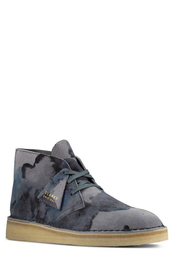 Men's Clarks Desert Coal Chukka Boot, Size 7 M - Blue