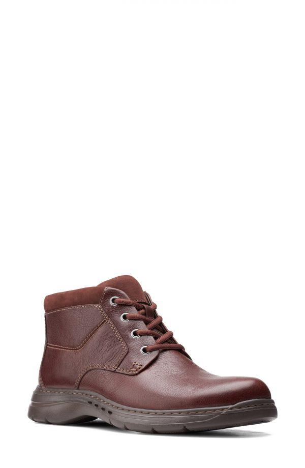 Men's Clarks Un Brawley Chukka Boot, Size 10.5 M - Brown