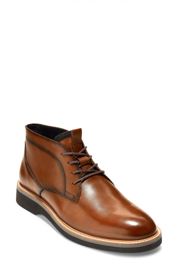 Men's Cole Haan Osborn Plain Toe Chukka Boot, Size 11 M - Brown