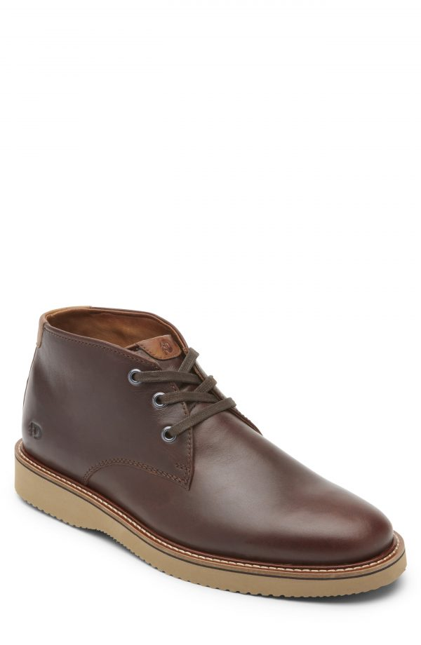 Men's Dunham Clyde Leather Chukka Boot, Size 8 D - Brown