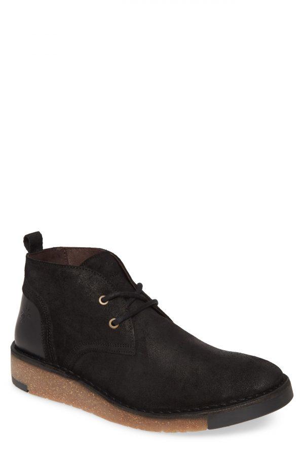 Men's Fly London Saze Crepe Sole Chukka Boot, Size 13US - Black