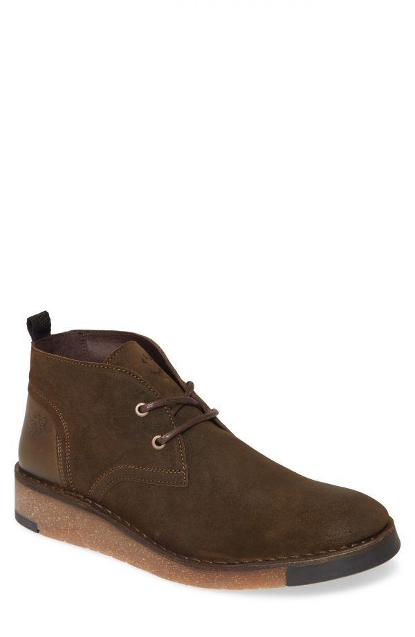 Men's Fly London Saze Crepe Sole Chukka Boot, Size 7US - Green