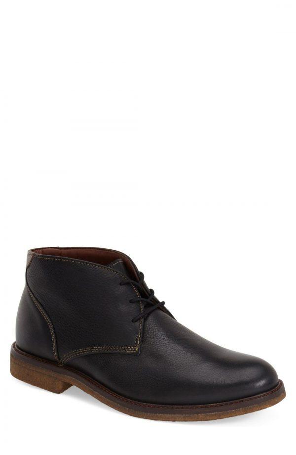 Men's Johnston & Murphy 'Copeland' Suede Chukka Boot, Size 13 M - Black