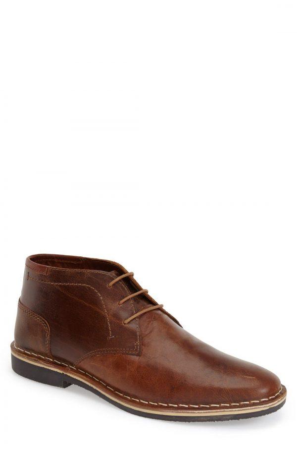 Men's Steve Madden 'Harken' Leather Chukka Boot, Size 10.5 M - Brown