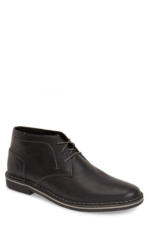 Men's Steve Madden 'Harken' Leather Chukka Boot, Size 13 M - Black