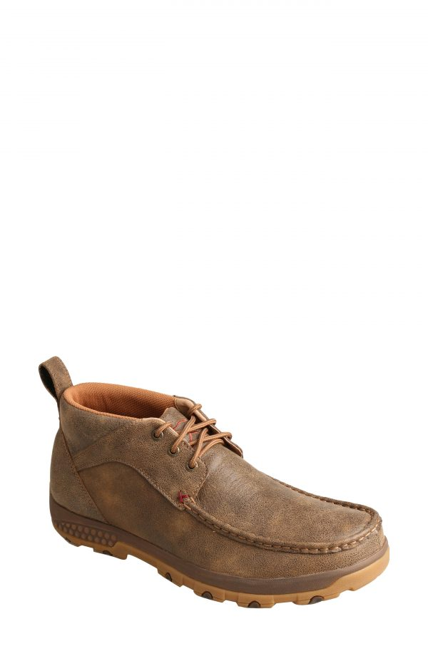 Men's Twisted X Driving Moc Cellstretch Chukka Boot, Size 7 W - Brown